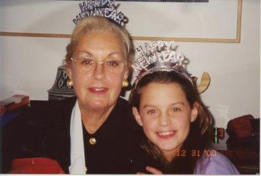 Emily and her grandma on New Year's Eve.