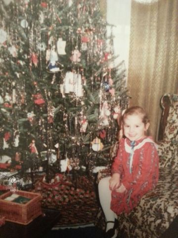 A young Mary is ready for Christmas!