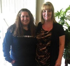 Wendelyn (L) with Tacoma Recruiter, Betty Dawson (R)