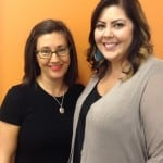 (L-R) Donna and her recruiter, Tabitha, are all smiles.