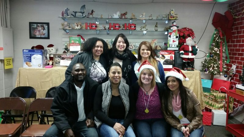 Teams Tukwila and Tacoma also volunteered at the Toy Rescue Mission last year. (Back row L-R: Tamika, Stephanie, Michelle; Front row L-R: Anthony, Antoinette, Betty and Lili)