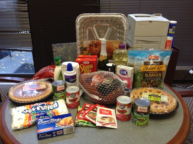 A family in need will have plenty to eat this Thanksgiving thanks to the Seattle office.
