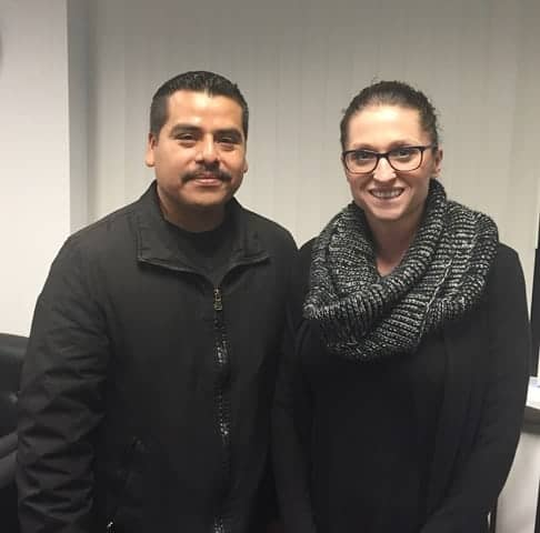CA meets OR. Raul (L) with NE PDX Recruiter, Melissa (R).