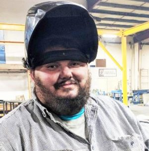 TERRA Success Story, Jim Ryckman loves his new job as a welder.