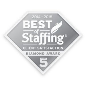 Image of Best of Staffing Diamond Award, which TERRA has won 7 years in a row.