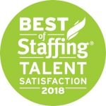 Image of the Best of Staffing 2018 Talent Award, which TERRA has won for the third year in a row.