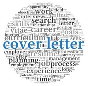 Cover letter concept in word tag cloud