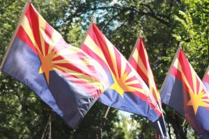Arizona flag - minimum wage increase