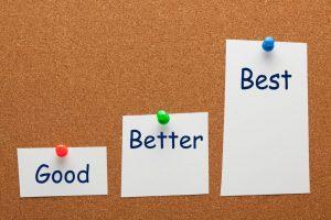 growth mindset - good, better, best
