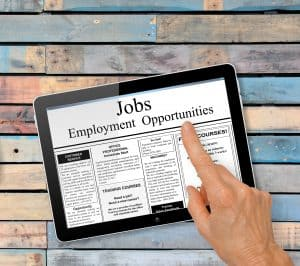 searching for job opportunities using temp agencies and staffing agencies