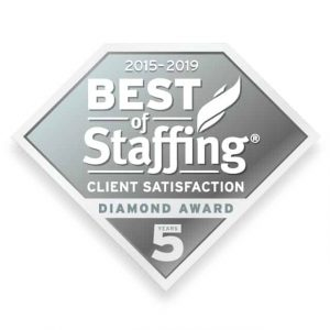 2019 best of staffing client diamond award logo