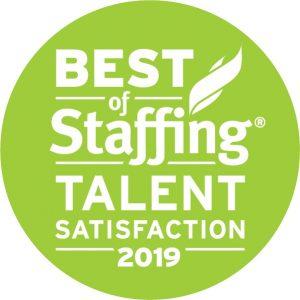 2019 Best of Staffing Talent Award logo
