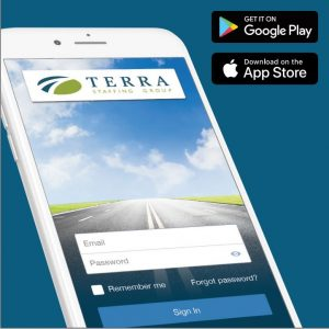 Image of TERRA mobile app, available for Android and iOS