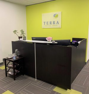 Image of TERRA's Vancouver, WA office front lobby