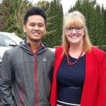 TERRA Success Story Matthew Manlapaz and Tacoma Recruiter Betty Dawson.
