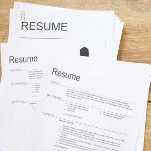 Image of resume pile