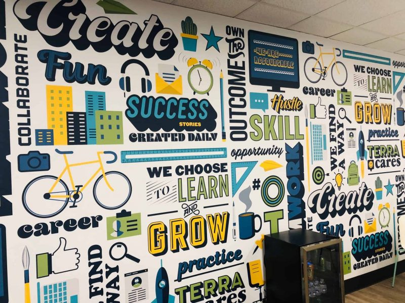 Seattle Office Mural with TERRA Values
