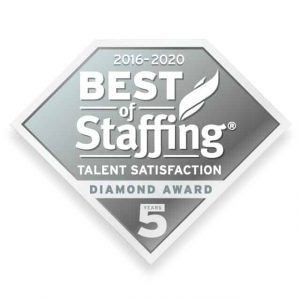 2020 best of staffing talent diamond award