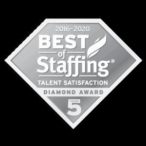 2020 best of staffing talent diamond award