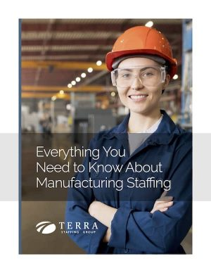 Everything You Need to Know About Manufacturing Staffing eBook Cover