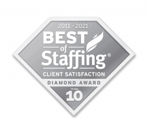 Best of Staffing Client Diamond Award 10 years