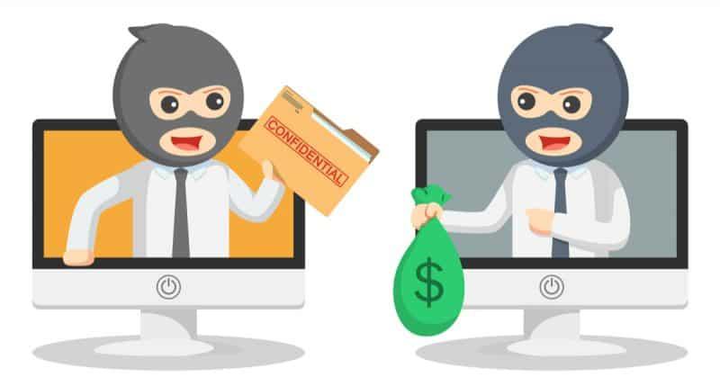 cartoon image of job scams